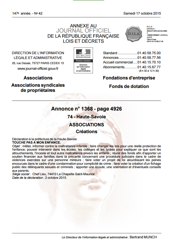 Asso journal officiel