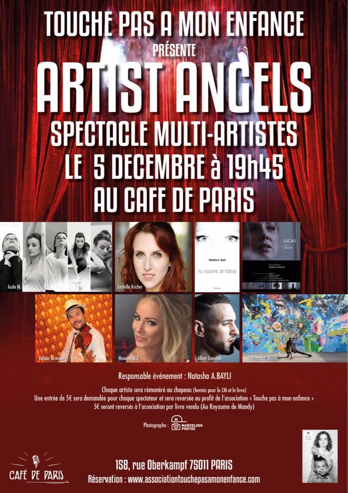 SPECTACLE ANGELS ARTIST LE 5 DECEMBRE 2018
